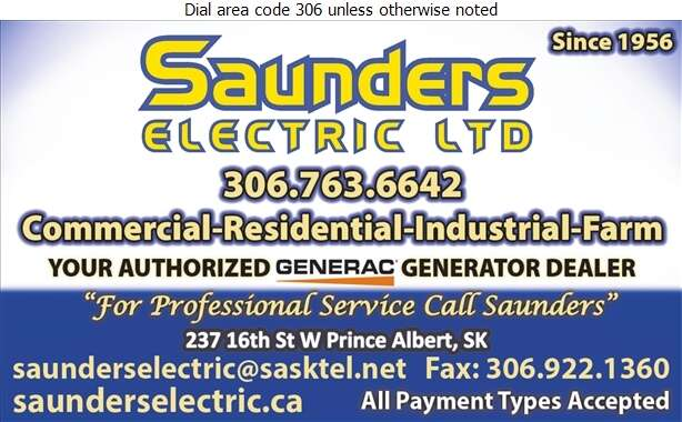 Saunders Electric Ltd - Electric Contractors Digital Ad