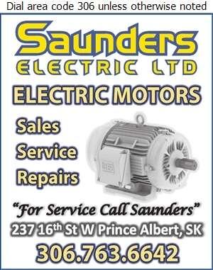Saunders Electric Ltd (Don Saunders Jr Residence) - Electric Motors Sales & Service Digital Ad