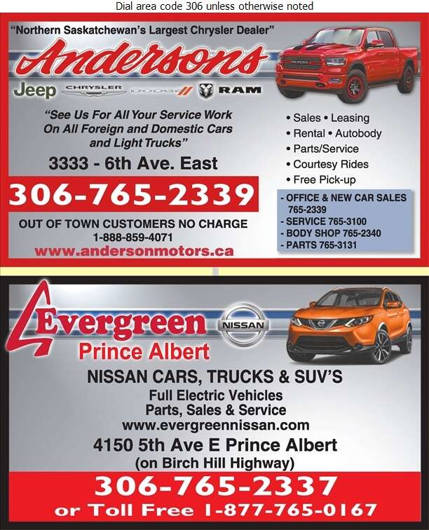 Anderson Motors Ltd (Fax) - Auto Dealers New Cars Digital Ad