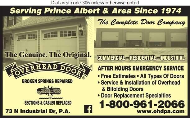 Overhead Door Co Of Prince Albert - Doors Overhead Digital Ad