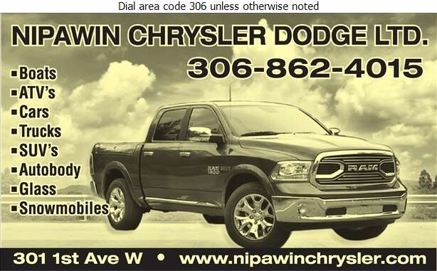 Nipawin Chrysler Dodge Yamaha Lund (Fax) - Auto Dealers New Cars Digital Ad