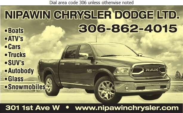 Nipawin Chrysler Dodge Yamaha Lund (Autobody) - Auto Dealers New Cars Digital Ad