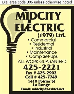 Mid City Electric Ltd - Electric Contractors Digital Ad
