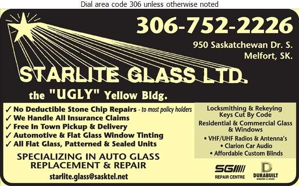 Starlite Glass Ltd - Glass Auto, Float, Plate, Window Etc Digital Ad