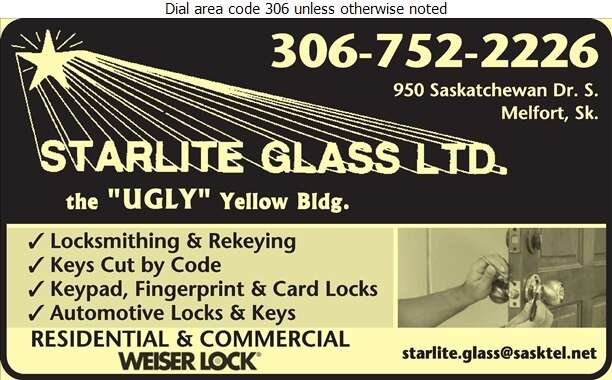 Starlite Glass Ltd - Locksmiths Digital Ad