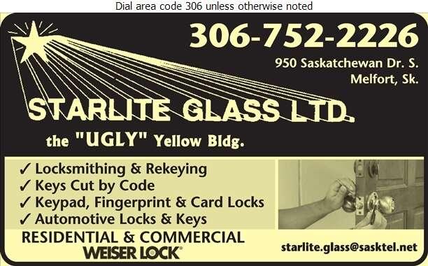 Starlite Glass Ltd - Locksmiths Digital Ad