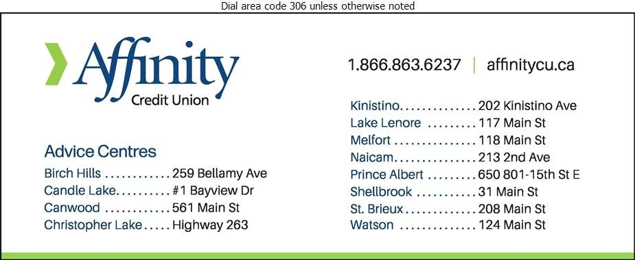 Affinity Credit Union - Prince Albert Branch (650 801 15th St E) - Credit Unions Digital Ad