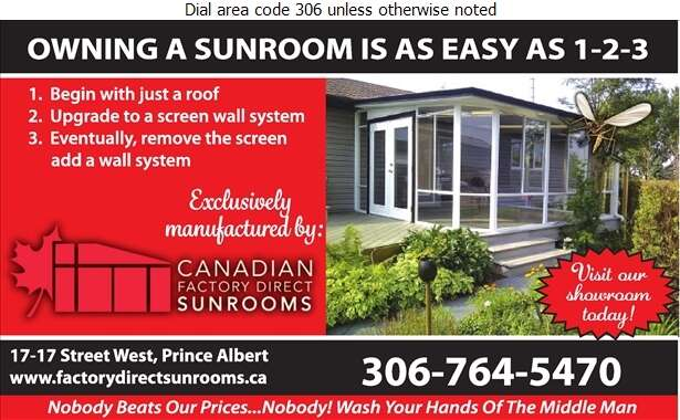 Canadian Factory Direct Sunrooms - Sun Rooms & Solariums Digital Ad