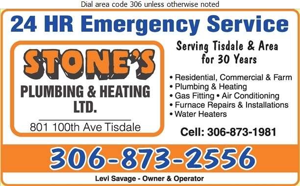 Stone's Plumbing & Heating Ltd - Plumbing Contractors Digital Ad