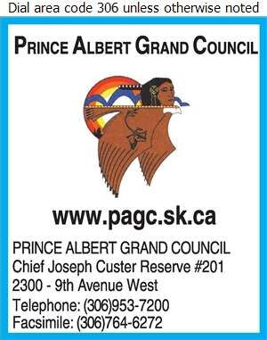 Prince Albert Grand Council (Wahpeton IR #94B SPIRITUAL HEALING LODGE) - First Nations Organizations Digital Ad