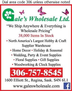 Gale's Wholesale Ltd - Craft Supplies Wholesale Digital Ad