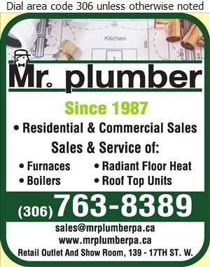 Mr Plumber - Heating Contractors Digital Ad