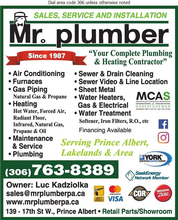 Mr Plumber - Plumbing Contractors Digital Ad