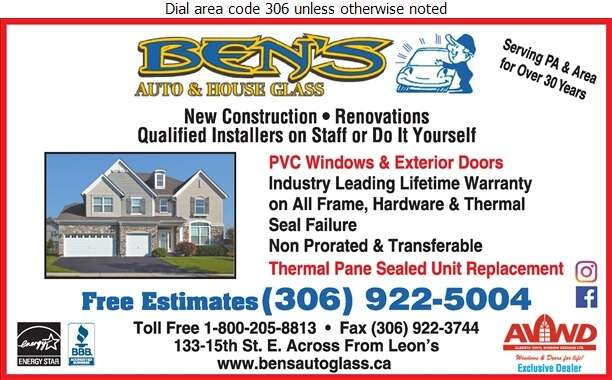 Ben's Auto & House Glass - Windows Digital Ad