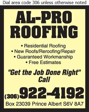 Al-Pro Roofing - Roofing Contractors Digital Ad
