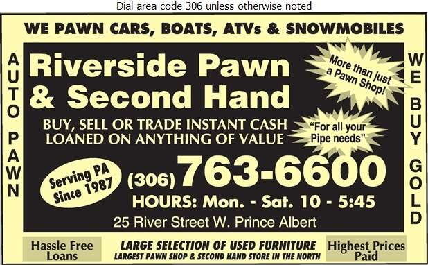 Riverside Pawn & Second Hand Store - Pawnbrokers Digital Ad