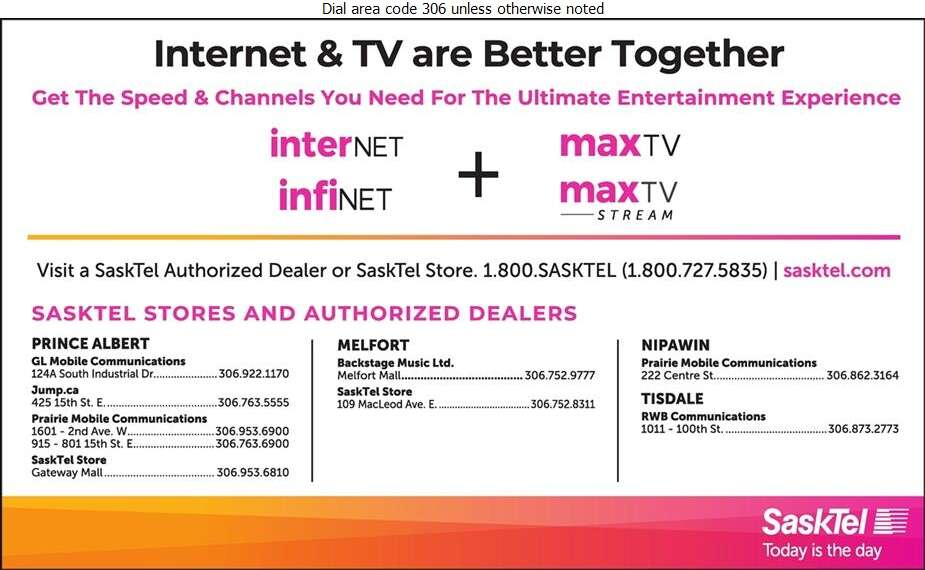 SaskTel maxTV - Cable Television Systems Digital Ad