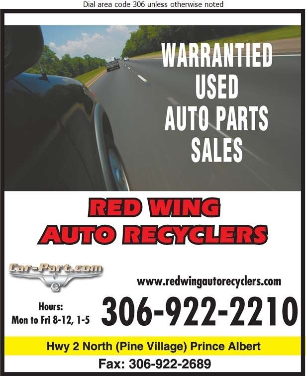 Red Wing Auto Recyclers - Auto Wrecking Digital Ad