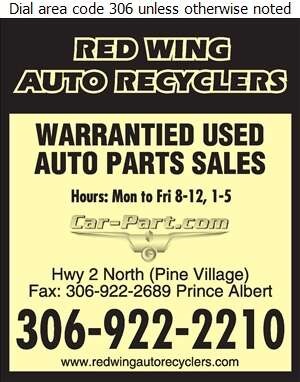 Red Wing Auto Recyclers - Auto Parts & Supplies Retail Digital Ad