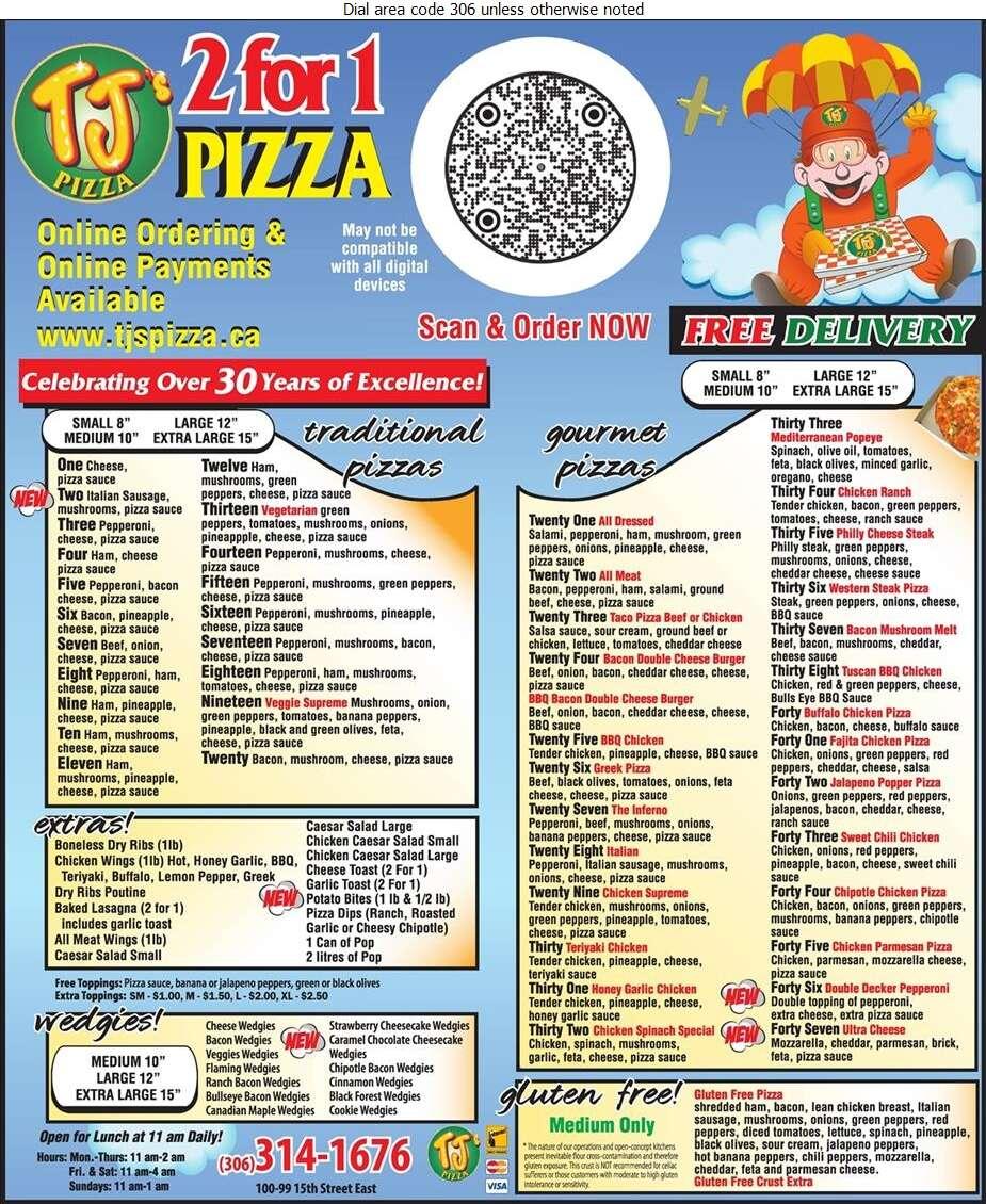 T J's Pizza - Pizza Digital Ad