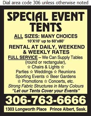 Special Events Tents - Tents Renting Digital Ad