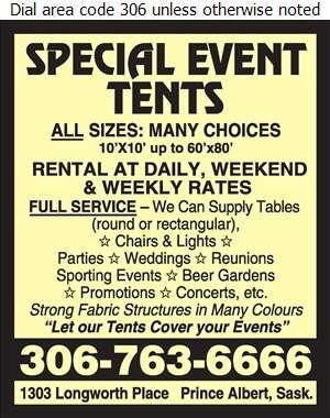 Special Events Tents - Tents Renting Digital Ad