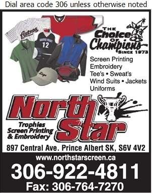 North Star Screenprinting & Sportswear - Sportswear Retail Digital Ad