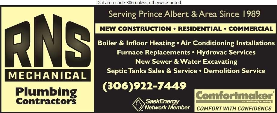 R N S Mechanical - Plumbing Contractors Digital Ad