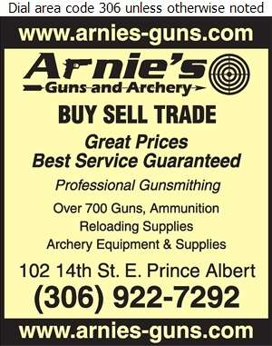 Arnie's Guns & Archery - Guns & Gunsmiths Digital Ad