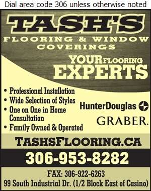 Tash's Flooring - Blinds Retail Digital Ad