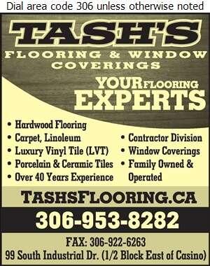 Tash's Flooring & Window Coverings - Floor Covering Digital Ad