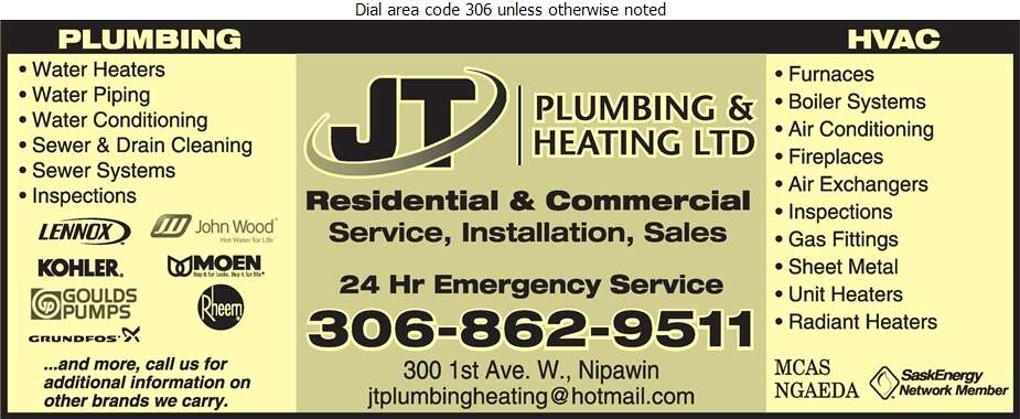 J T Plumbing & Heating Ltd - Plumbing Contractors Digital Ad