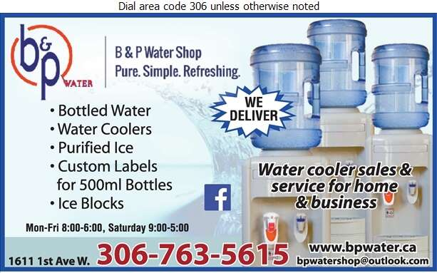 B & P Water Shop - Water Companies Bottled, Bulk, Etc. Digital Ad
