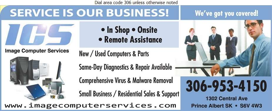 Image Computer Services - Computers Digital Ad