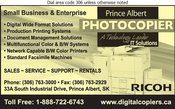 Prince Albert Photocopier - Copying Machines & Supplies Digital Ad
