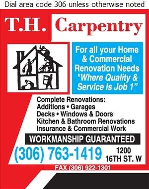 T H Carpentry - Contractors General Digital Ad