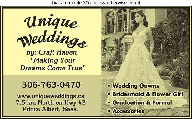Unique Weddings by Craft Haven - Bridal Shops Digital Ad