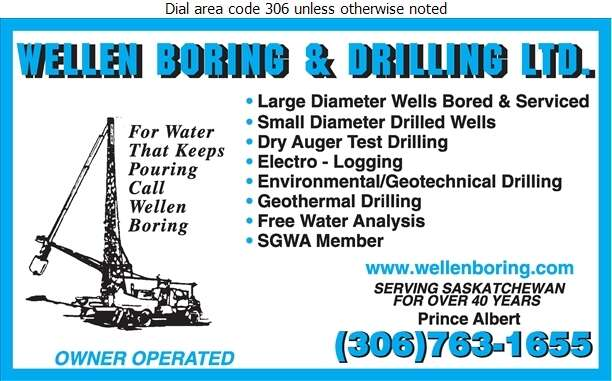 Wellen Boring & Drilling Ltd - Water Well Drilling & Service Digital Ad