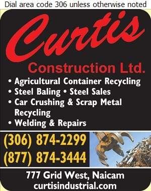 Curtis Construction Ltd - Scrap Metals Digital Ad
