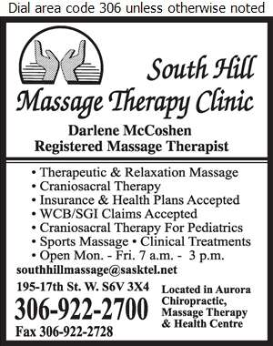 South Hill Massage Therapy Clinic - Massage Therapists Digital Ad