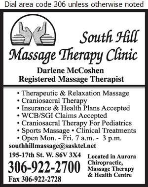 South Hill Massage Therapy Clinic - Massage Therapists Digital Ad