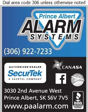 Prince Albert Alarm Systems Ltd - Alarm Systems Digital Ad