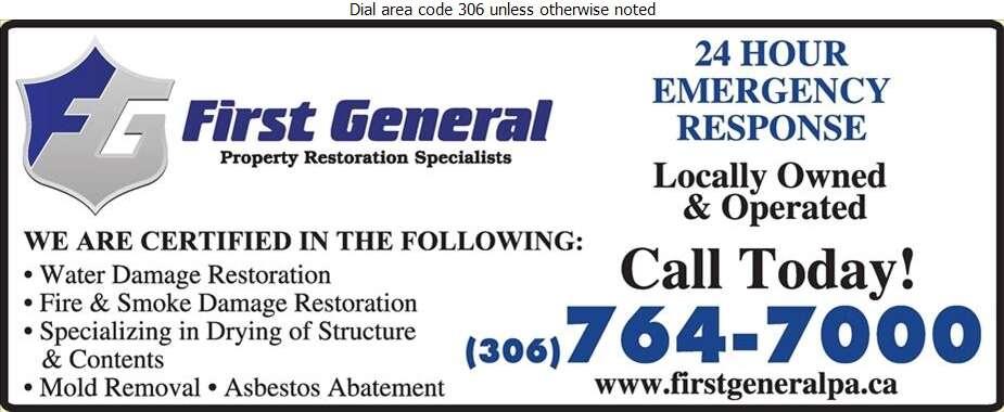 First General - Flood Damage Restoration & Floodproofing Digital Ad