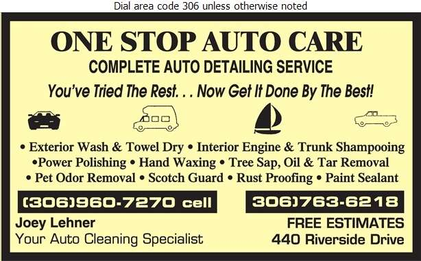 One Stop Auto Care - Car Washing & Polishing Digital Ad