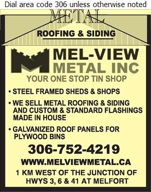 Mel-View Metal Inc - Building Materials Digital Ad