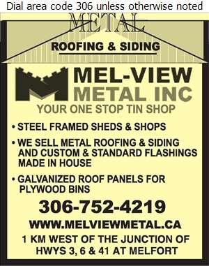 Mel-View Metal Inc - Building Materials Digital Ad