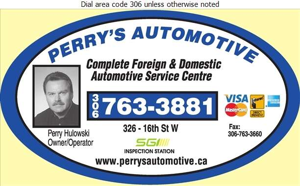 Perry's Automotive - Auto Repairing Digital Ad