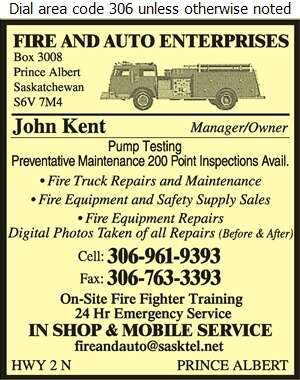 Fire & Auto Enterprises - Fire Fighting Equipment Digital Ad