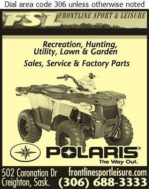 Frontline Sport & Leisure Ltd - All Terrain Vehicles Digital Ad