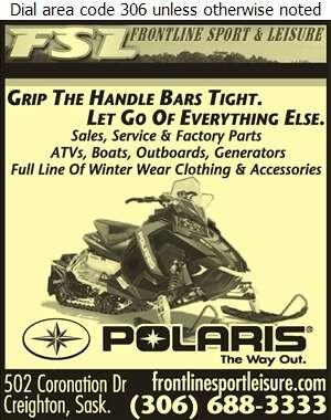 Frontline Sport & Leisure Ltd - Snowmobiles Digital Ad